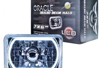 "Oracle Lighting® 6908-001 - 7x6"" Rectangular White Color Halo Headlight"