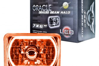 "Oracle Lighting® 6908-005 - 7x6"" Rectangular Amber Color Halo Headlight"