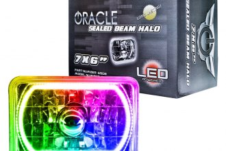"Oracle Lighting® 6908-333 - 7x6"" Rectangular Multi Color Halo Headlight"