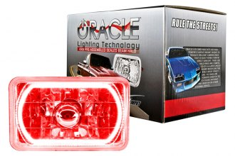 "Oracle Lighting® 6909-003 - 4x6"" Rectangular Red Color Halo Headlight"