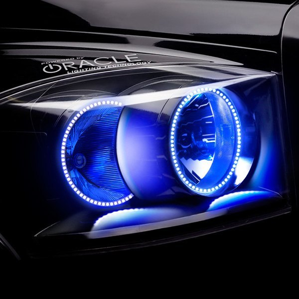 Oracle Lighting® - Black Factory Style Headlights with Blue SMD LED Halos Preinstalled