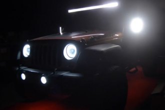 Oracle Lighting® - Jeep Wrangler Off Road Light Bar, LED Mirrors and Sealed Beams