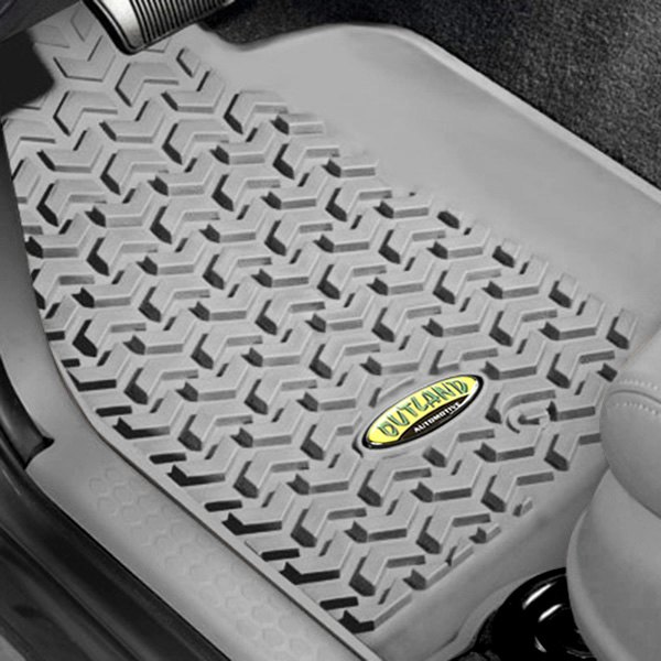 Outland Automotive® - All Terrain 1st & 2nd Row Gray Floor Liners Set with Cargo Liner