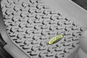 Image may not reflect your exact vehicle! Outland Automotive® - All Terrain 1st Row Gray Floor Liner