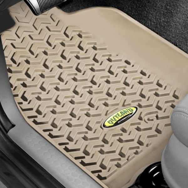 Outland Automotive® - All Terrain 1st & 2nd Row Tan Floor Liners Set