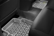 Image may not reflect your exact vehicle! Outland Automotive® - All Terrain 2nd Row Gray Floor Liner