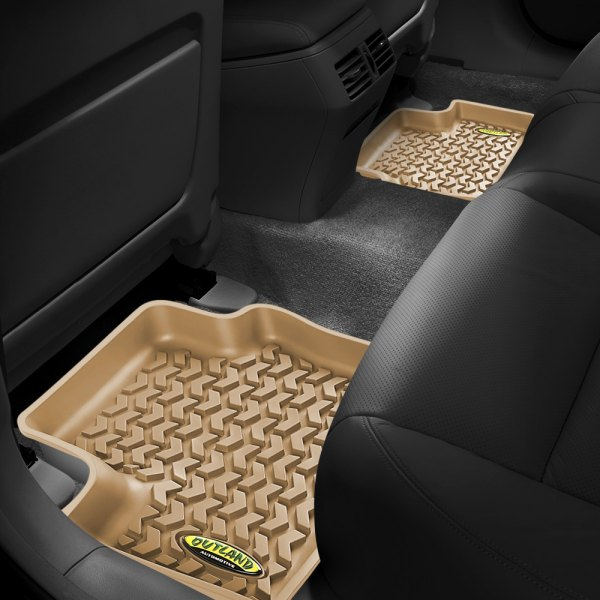 Outland Automotive® - All Terrain 2nd Row Tan Floor Liners