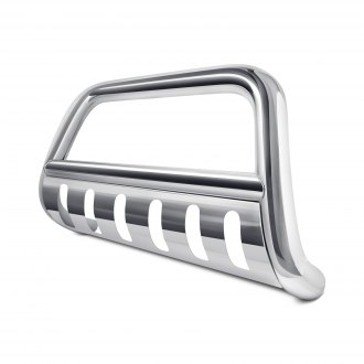 "Outland Automotive® - 3"" Polished Bull Bar with Polished Skid Plate"