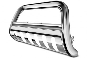 "Outland Automotive® - 4"" Stainless Steel Bull Bar with Stainless Steel Skid Plate"