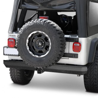 "Outland Automotive® - Rock Crawler Full Width Rear HD Bumper with 2"" Hitch"