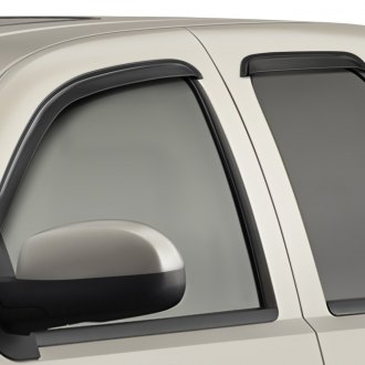 Outland Automotive® - Tape-On Black Front and Rear Window Visor Kit