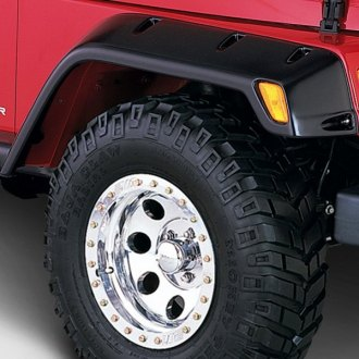 Outland Automotive® - All Terrain Matte Black Front and Rear Fender Flares Kit