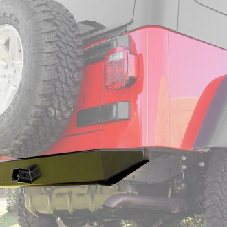 Outland Automotive® - Rock Crawler Full Width Rear HD Bumper with 2 Hitch