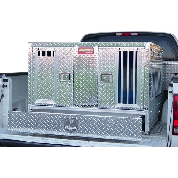 Owens 55057w Pro Hunter Series Double Compartment Dog Box With