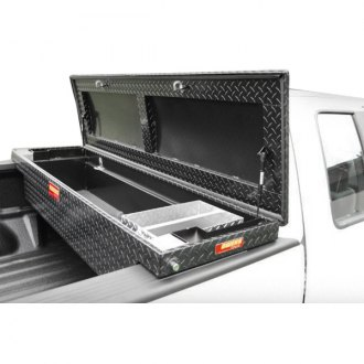 Owens® - Ellipse Diamond Tread Push Button Tool Box with Single Lid
