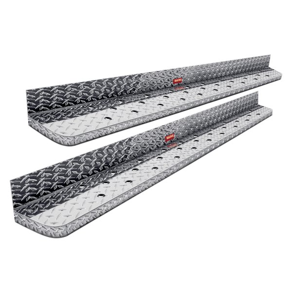 "Owens® - 6.5"" Commercial Cab Length Diamond Plate Running Boards"