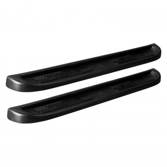 "Owens® - 5.5"" TranSender™ Rounded Style Wheel-to-Wheel Black Running Boards"