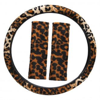 OxGord® - Leopard Animal Print Steering Wheel Cover Set