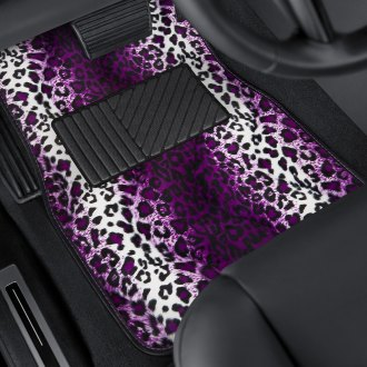 OxGord® - Leopard Style Carpeted Floor Mats with Heel Pad