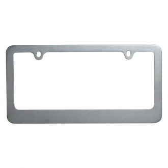 OxGord® - Standard Wide Chrome License Plate Frame