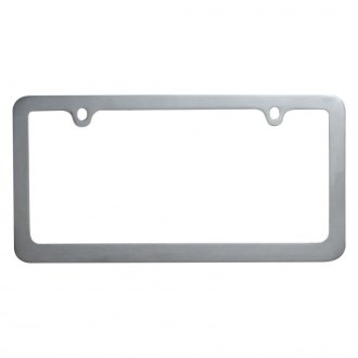 OxGord® - Standard Slim Chrome License Plate Frame