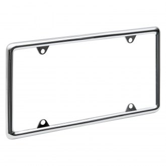 OxGord® - Standard Chrome License Plate Frame
