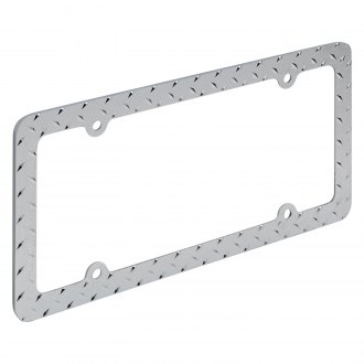 OxGord® - Diamond Chrome License Plate Frame