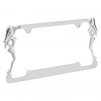 OxGord® - Beach Ladies Chrome License Plate Frame