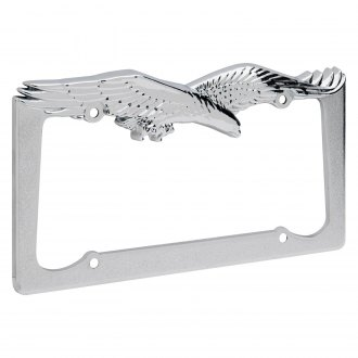 OxGord® - Eagle Chrome License Plate Frame