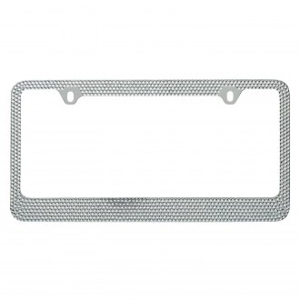 OxGord® - Bling Diamond Chrome License Plate Frame