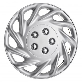"OxGord® - 14"" 11 Slots Silver Wheel Covers"