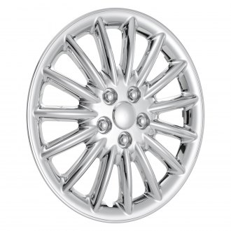 "OxGord® - 17"" 15 Spokes Chrome Wheel Covers"