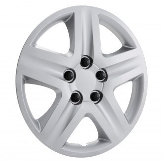 "OxGord® - 16"" 5 Spokes Silver Wheel Covers"