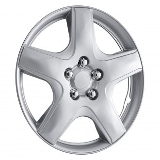 "OxGord® - 15"" 5 Spokes Silver Wheel Cover Set"