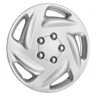"OxGord® - 15"" 5 Slots Silver Wheel Cover Set"