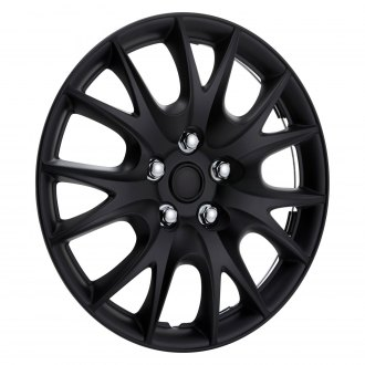 "OxGord® - 15"" 7 Y Spokes Matte Black Wheel Covers"