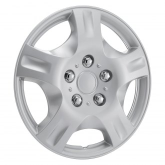 "OxGord® - 14"" 5 Spokes Silver Wheel Covers"