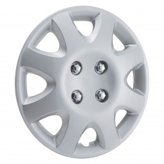 "OxGord® - 14"" 8 Spokes Silver Wheel Cover Set"