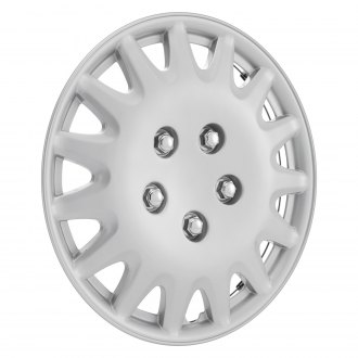 "OxGord® - 14"" 15 Spokes Silver Wheel Cover Set"