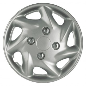OxGord® - 15'' 7 Slots Silver Wheel Cover Set