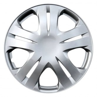 "OxGord® - 15"" 5 Double Spokes Silver Wheel Covers"