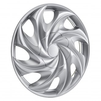 "OxGord® - 14"" 8 Slots Silver Wheel Covers With Hidden Lugs"