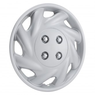 "OxGord® - 14"" 8 Slots Silver Wheel Covers"