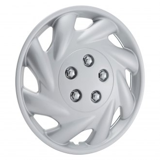 "OxGord® - 15"" 8 Slots Silver Wheel Covers"