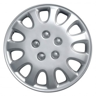 "OxGord® - 14"" Silver Wheel Cover Set"
