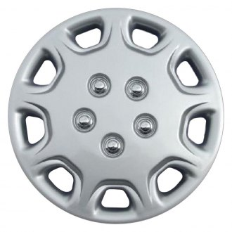"OxGord® - 14"" 9 Holes Silver Wheel Cover Set"
