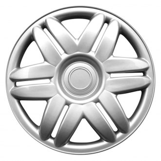 "OxGord® - 15"" 6 Double Spokes Silver Wheel Cover Set"