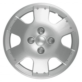 "OxGord® - 14"" 6 Spokes Silver Wheel Cover Set"