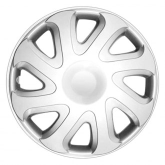 "OxGord® - 14"" 8 Holes Silver Wheel Cover Set"