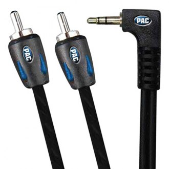 PAC® - Automotive grade 3.5mm to RCA 6ft long Right Angle